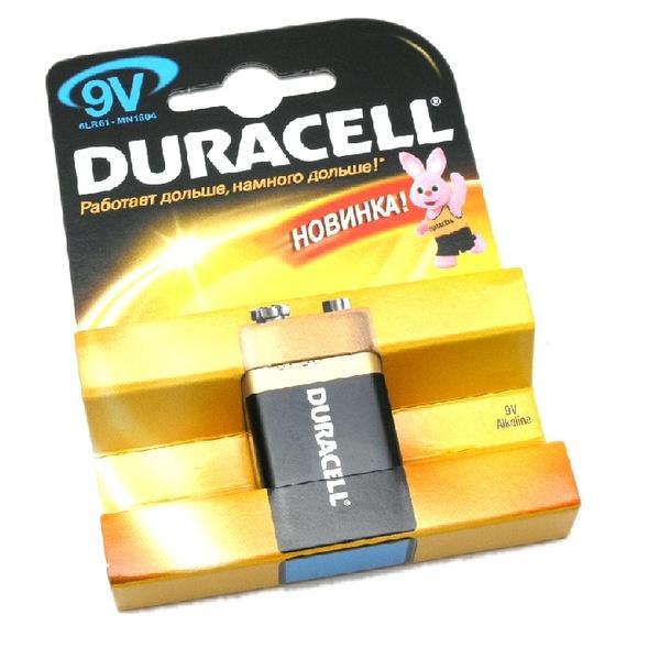 Батарейка Duracell Basic 9V 6LF22 (крона) 1 шт