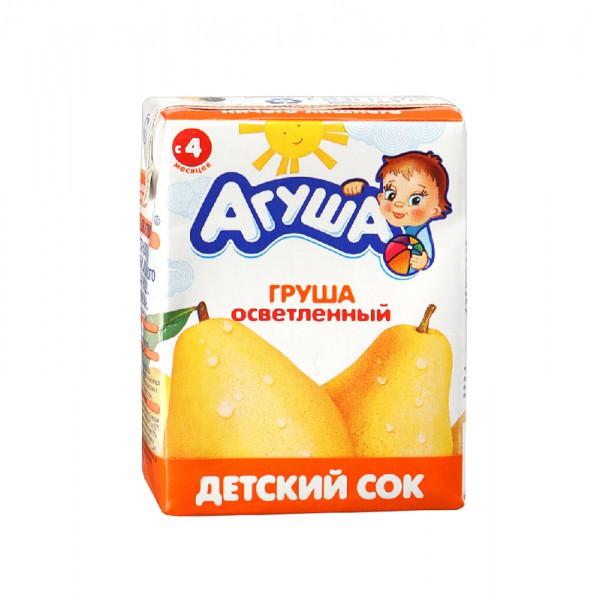 Сок детский Агуша Груша осветленный 200 мл