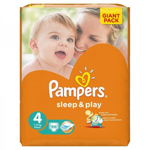 Подгузники PAMPERS Sleep Play Maxi (8-14 кг) 86 шт