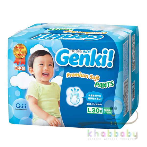 """Подгузники-трусики """" GENKI nepia"""" L  (9 -14 кг) 30 шт"""