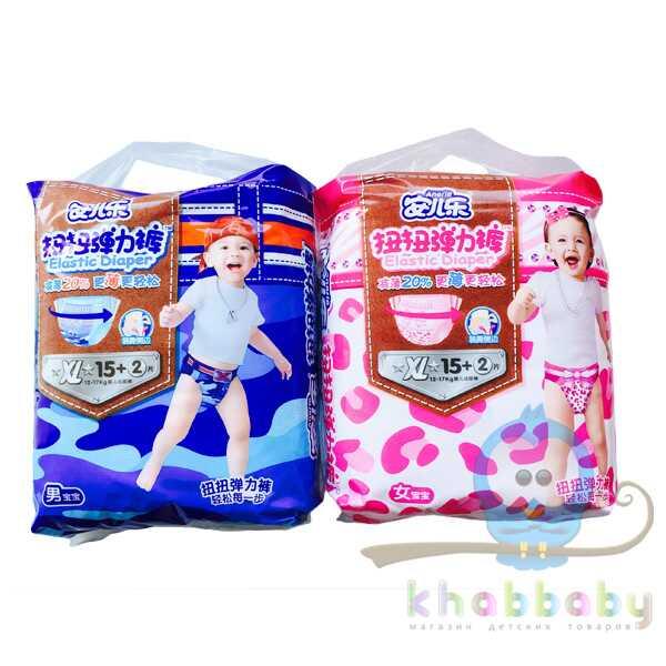 Подгузники - трусики ANERLE  XL 12-17 кг для девочек 17шт