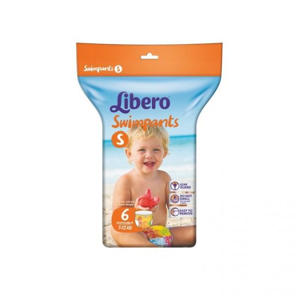 Подгузники-трусики для плавания Libero (7-12 кг) 6 шт