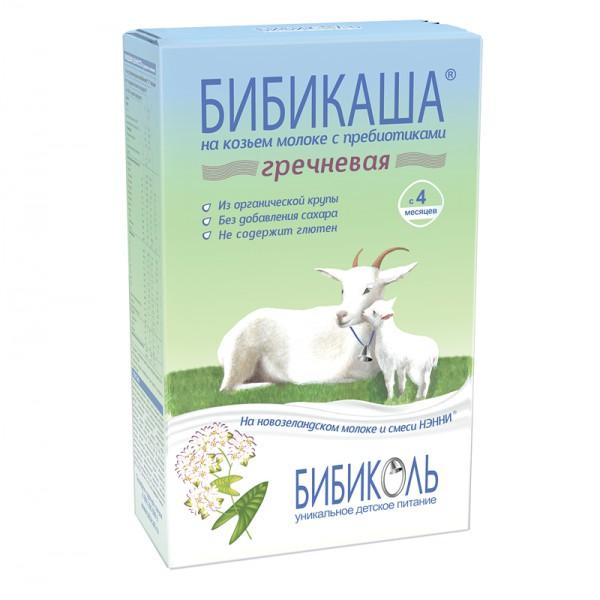 БИБИКАША каша гречневая на козьем молоке для детей  старше 4 месяцев 250 гр