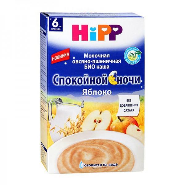 Каша HiPP БИО молочная Овсяно-пшеничная Яблоко Спокойной ночи 250 гр