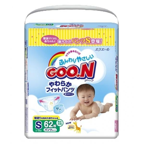 New Goon S Подгузники-трусики 5-9 кг (62шт)