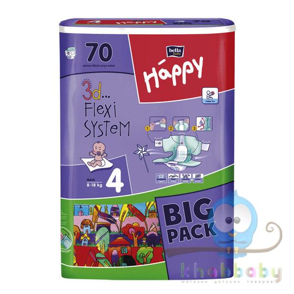Подгузники  Bella Happy Maxi (8-18кг) 70 шт
