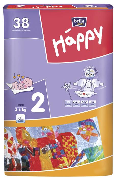 Подгузники  Bella Happy Mini (3-6кг) 38 шт