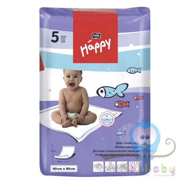 Пеленки для детей Bella baby Happy 60х90 5 шт