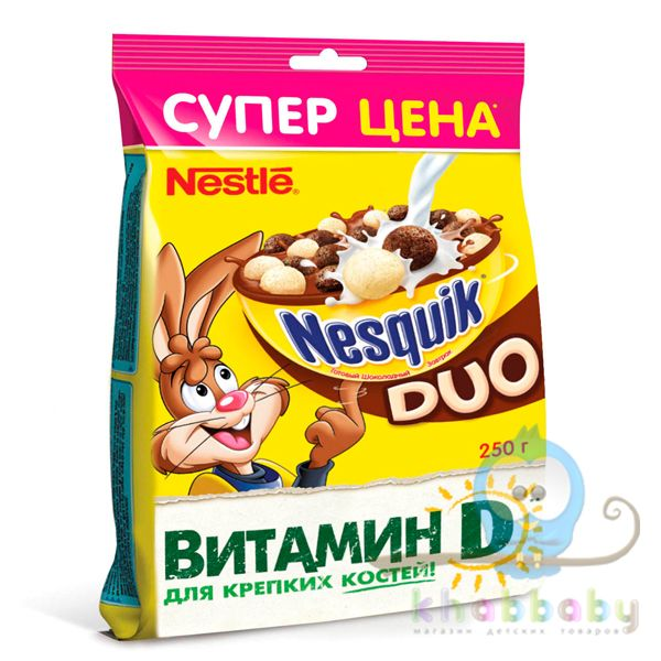 Nesquik DUO Готовый шоколадный завтрак пакет 250г