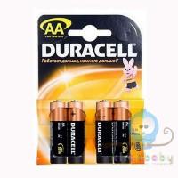 Батарейки Duracell пальчиковые АА 4 шт
