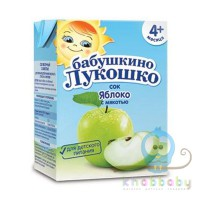 Сок яблочный с мякотью Бабушкино лукошко тетрапак 200г
