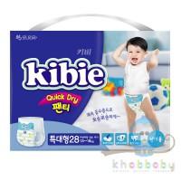 Kibie Quick Dry подгузники-трусики для мальчиков XL 13-18 кг 28 шт