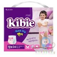 Kibie Quick Dry подгузники-трусики для девочек ХXL 17+ кг 24 шт