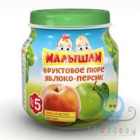 МАЛЫШАМ фруктовое пюре яблоко-персик 100 гр