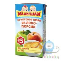 МАЛЫШАМ пюре Яблоко/Персик 125 гр